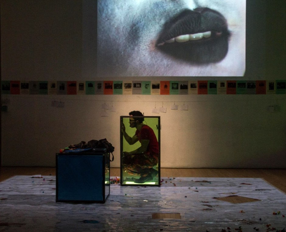 Rafael Benoit in TALA (Kyoung's Pacific Beat, Performance Project @ University Settlement, 2015). Photo by Talya Chalef