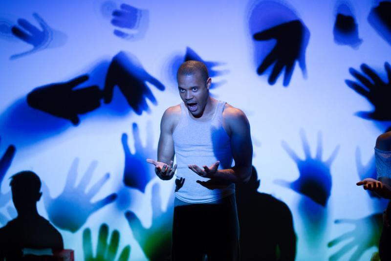 Jabari Brisport performs at Port Cities' workshop at Dixon Place in 2015. Photo credit: Kelly Stuart.