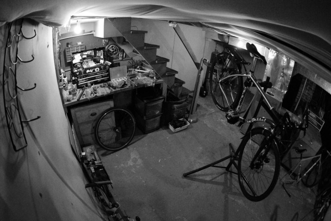 basement bike workshop