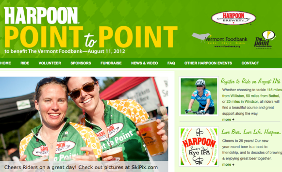 harpoon brewery point to point