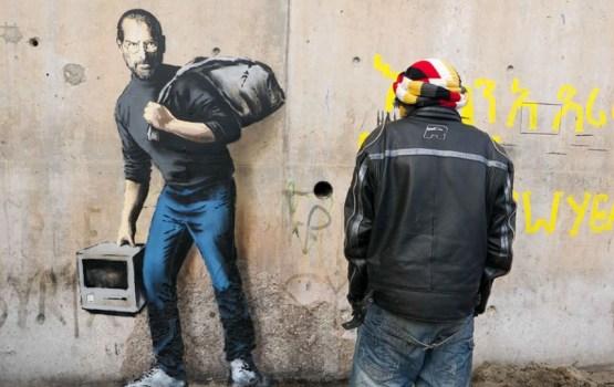 CALAIS : กราฟฟิตี้ในค่ายผู้ลี้ภัยชาวซีเรีย งานใหม่ของ Banksy ที่สร้างแรงกระเพื่อมต่อสังคมอย่างมหาศาล