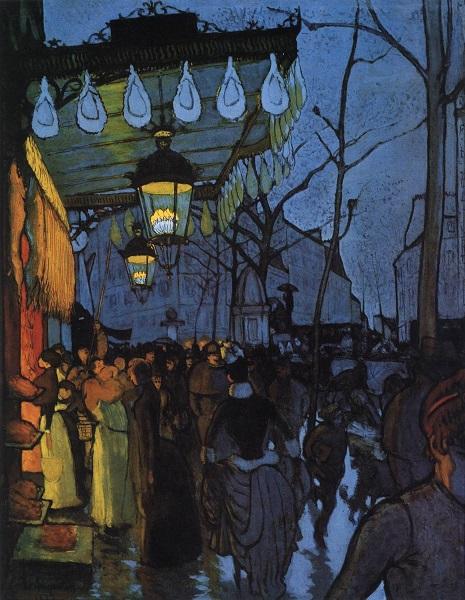 Avenue de Clichy à cinq heures du soir, Louis Anquetin