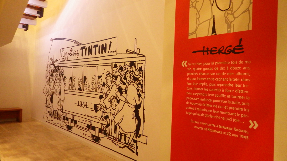expo Hergé au Grand Palais