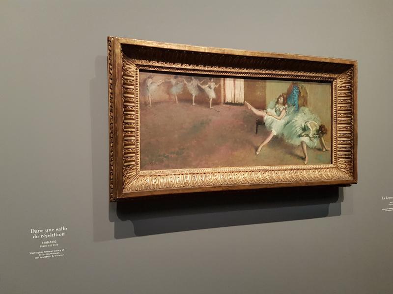 Dans une salle de répétition Degas - National gallery Washington