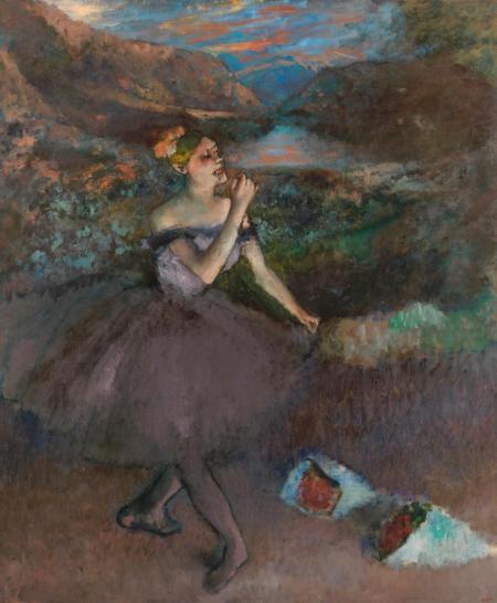 danseuse aux bouquets, Degas - Chrysler Museum of Art Norfolk