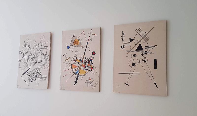 poster lounge tableaux bois kandinsky