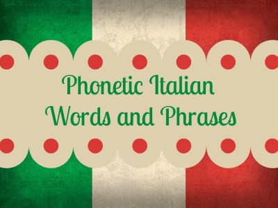 Helpful Italian Words and Phrases
