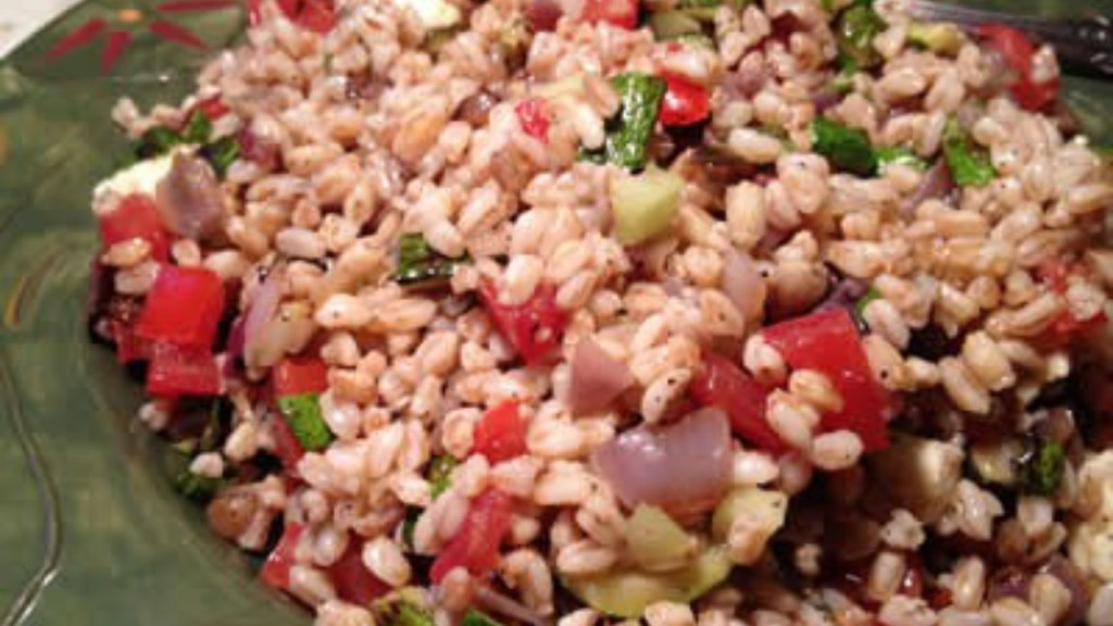 Farro Salad, an Italian dish full of flavor that can be made with whatever you have on hand