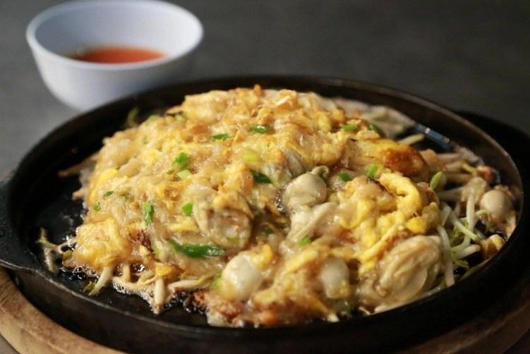 mussel omelette