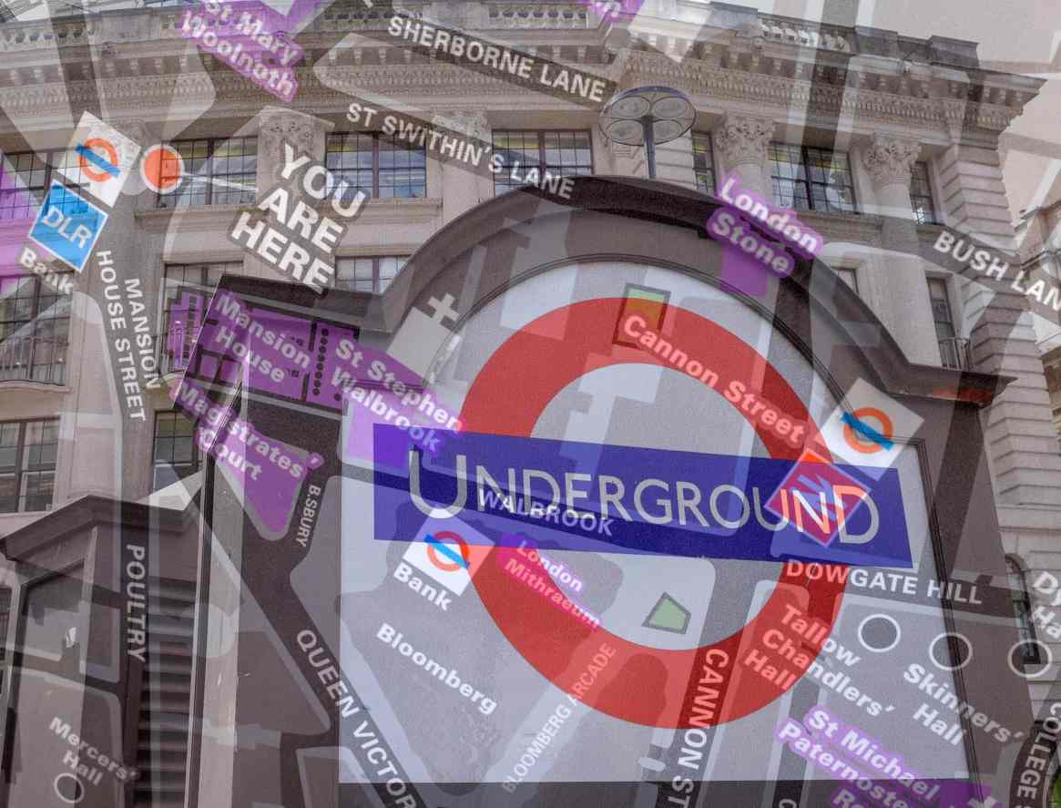 london underground stacked exposure