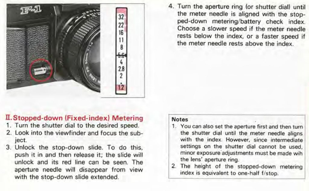 canon film camera metering