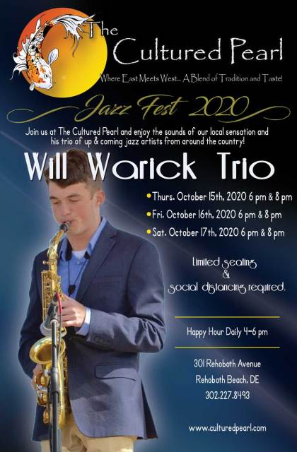 Will Warick Trio at Cultured Pearl Rehoboth Beach Jazz Festival