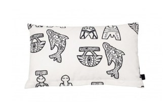 The Norh Atlantic House Pillowcase Inuk black and white symbols greenlandic greenland design