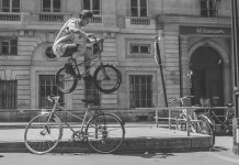 bmx rider matthias dandies at home paris red bull