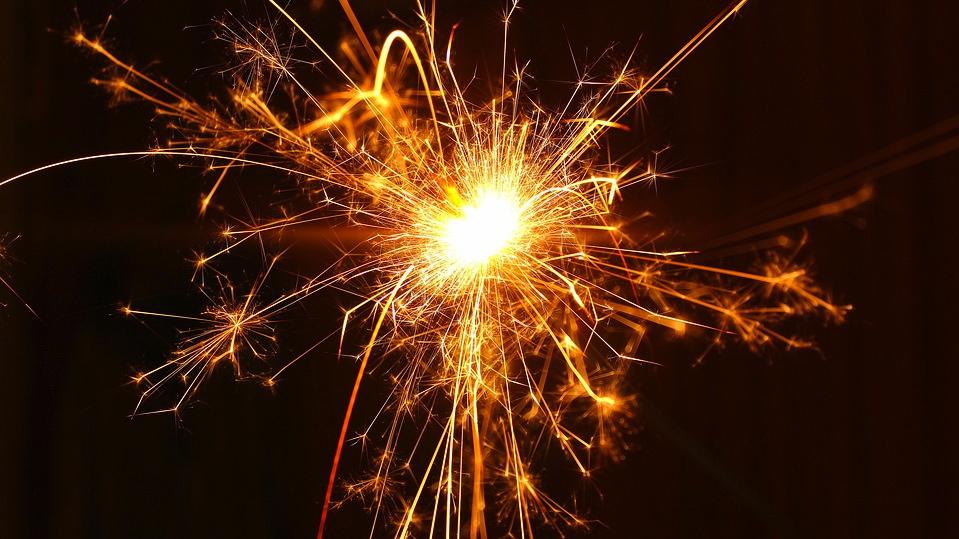 Fireworks spark