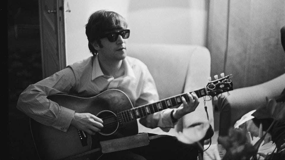 John Lennon in Paris courtesy of Getty Images