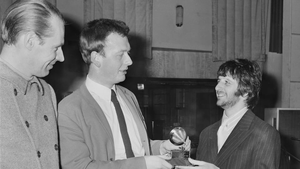 George Martin, Geoff Emerick and Ringo Starr courtesy of Getty Images