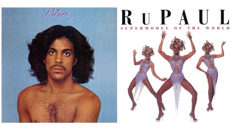 Prince and Rupaul LP covers