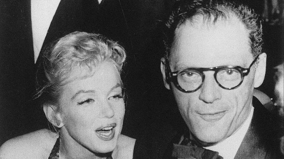 Marilyn Monroe and Arthur Miller 1957 Public Domain