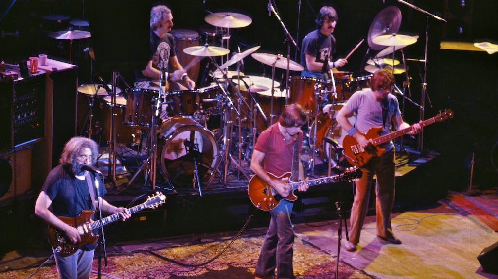 Cropped public domain photo of The Grateful Dead by Chris Stone via Flickr