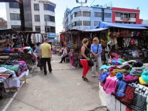 Otavalo Indigenous Market scene