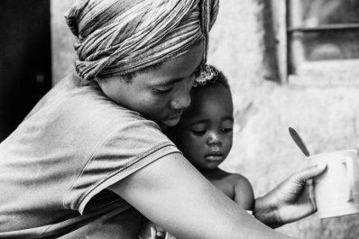 Rwandan woman and child
