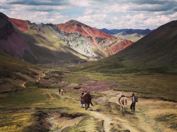 getting local on Rainbow mountain