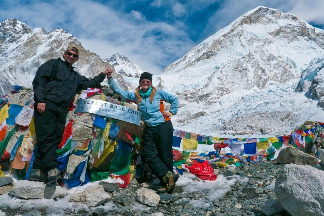 Dave and Deb at the Everest base camp