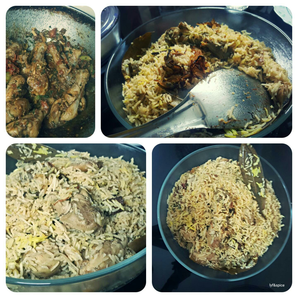 chicken biryani food