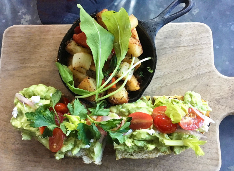 ice plant avocado toast
