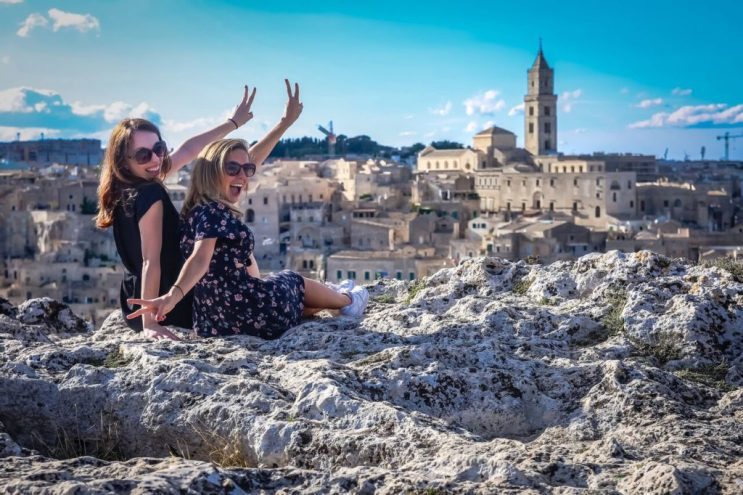 At times my friends will join my tours! This year one of my best friends from NYC and her family joined me in Matera