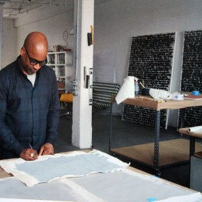 'Art Studio America': Glenn Ligon Makes Those Text Paintings in an Old Canning Factory
