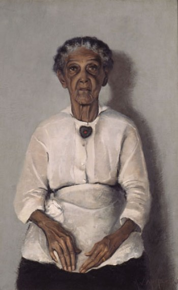 "Painting titled ""Portrait of My Grandmother""by Archibald J. Motley, Jr.; 1922"