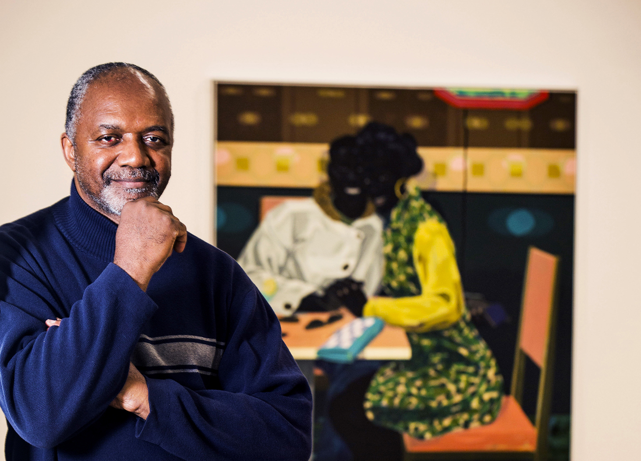 Artist Kerry James Marshall. Photograph by Felix Clay