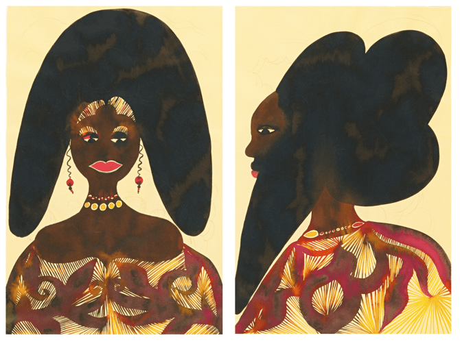 chris ofili - untitled (two works) afromuses