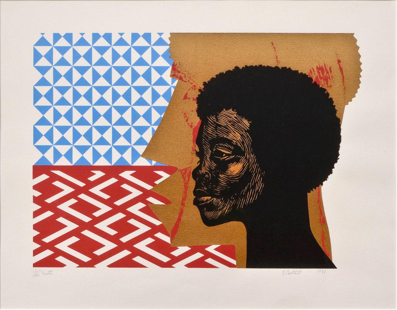 Elizabeth Catlett, Roots, 1981, Mixed media