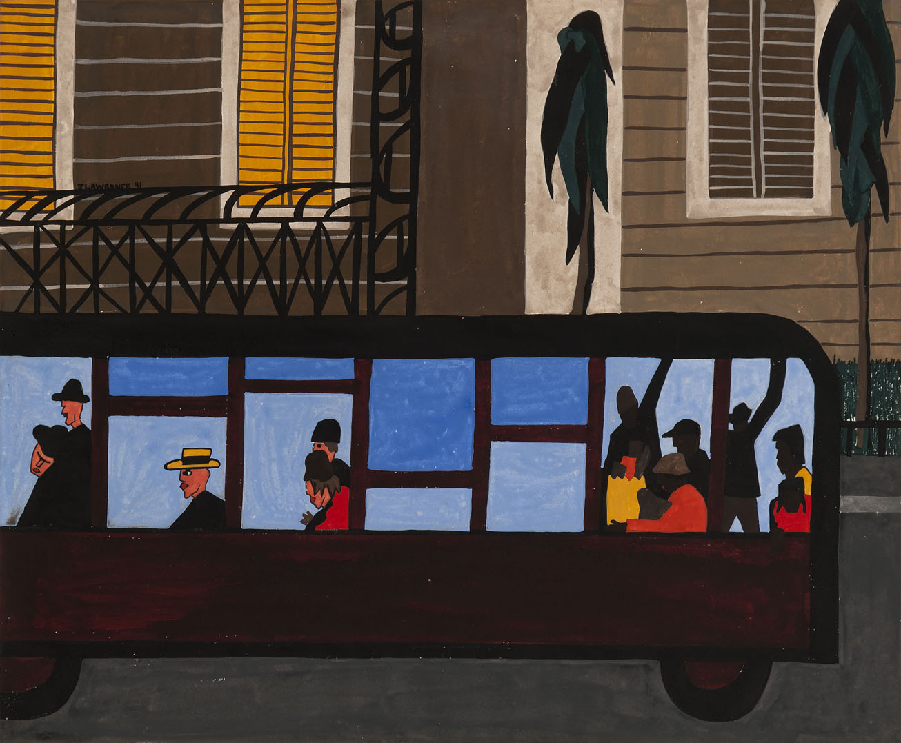 jacob lawrence - bus 1941