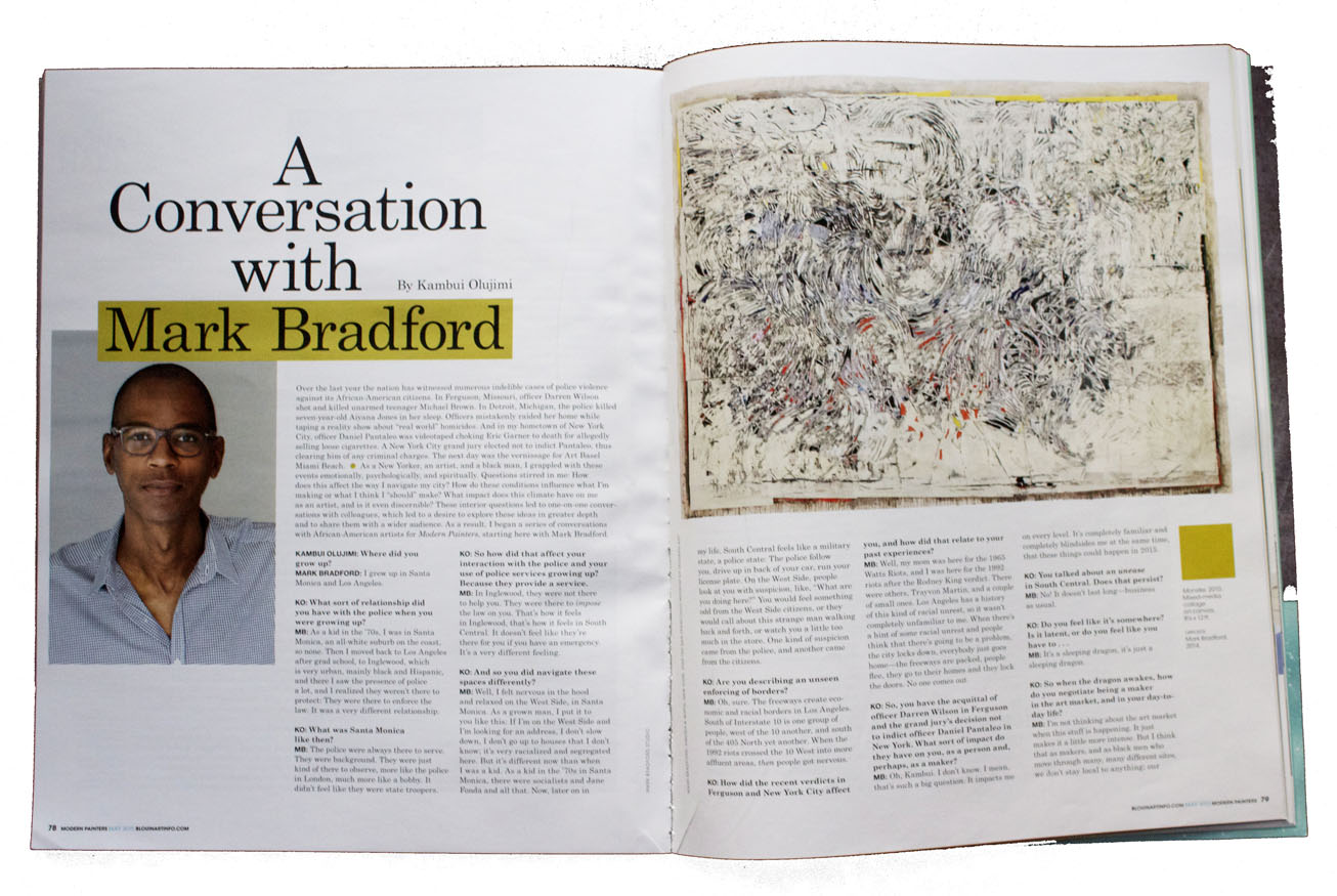 mark bradford - modern painters
