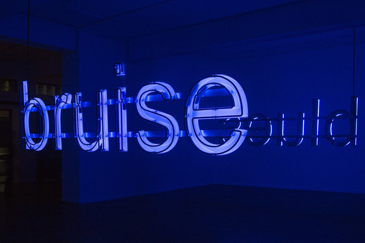 glenn ligon - untitled - bruise-blues - 2014