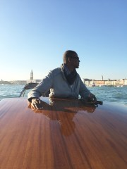 Mark Bradford in Venice. Photo by Christopher Bedford