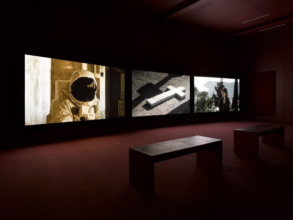 Installation view JOHN AKOMFRAH @ Lisson Gallery