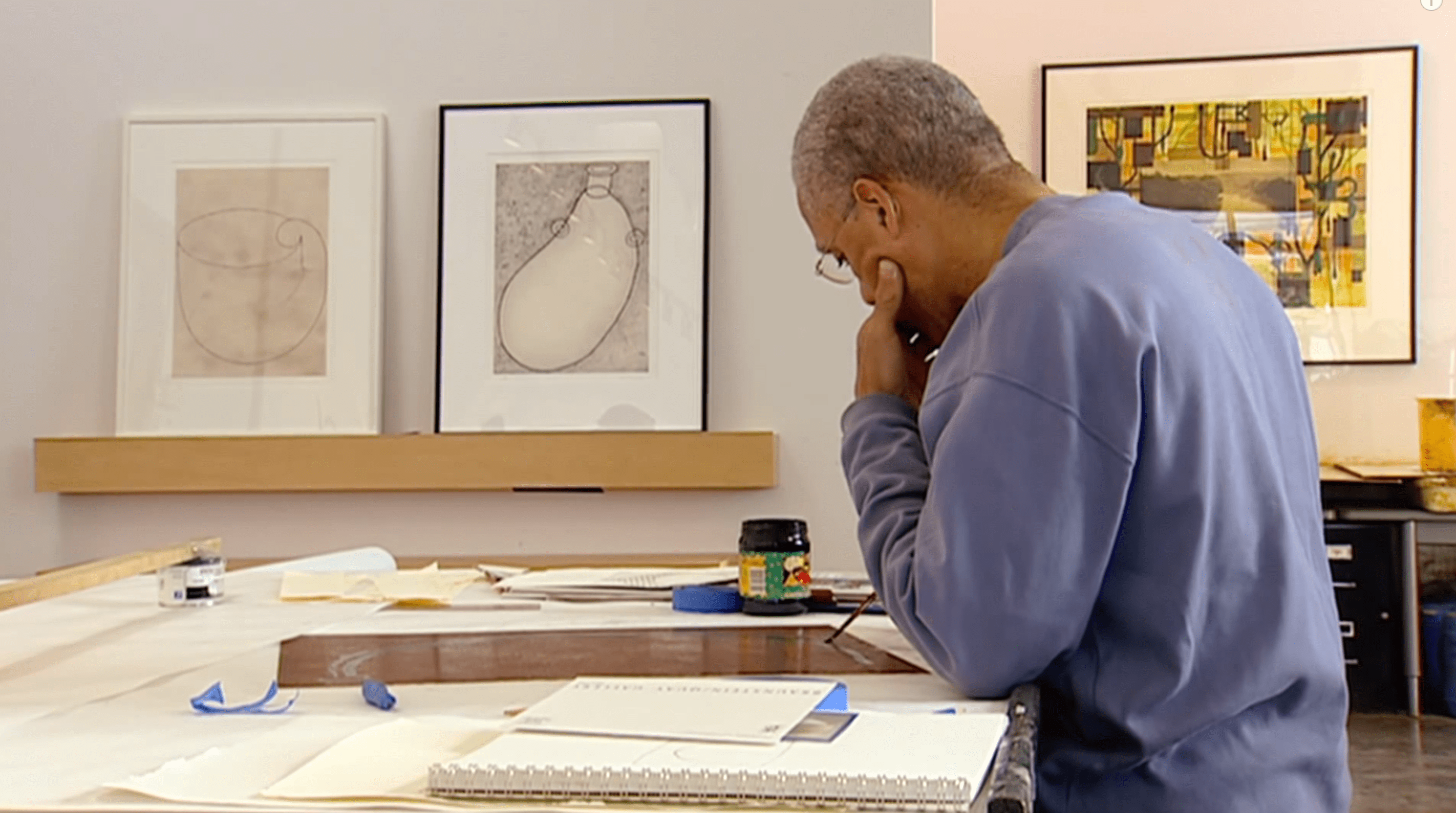 Martin Puryear - Art 21 Video Still - Printmaking