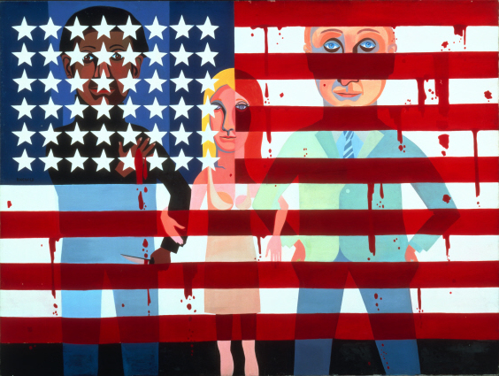 Faith Ringgold, American People Series #18: The Flag Is Bleeding, 1967