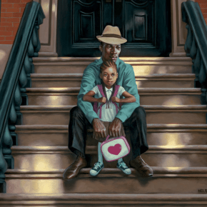 Kadir Nelson Depicts Father and Daughter on Brooklyn Stoop for New Yorker Cover