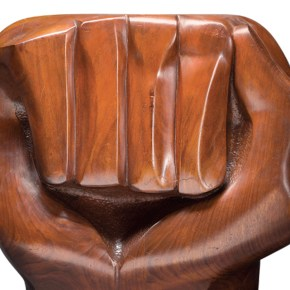 Artforum: Powerful Clenched Fist Sculpture by Elizabeth Catlett Graces November Cover