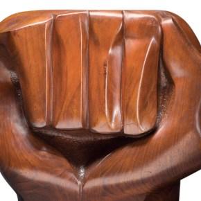 Artforum: Powerful Clenched Fist Sculpture by Elizabeth Catlett Graces November Cover