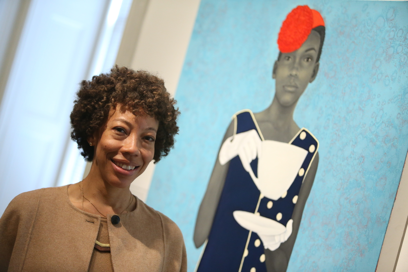 portrait artist amy sherald discussed her practice at the national