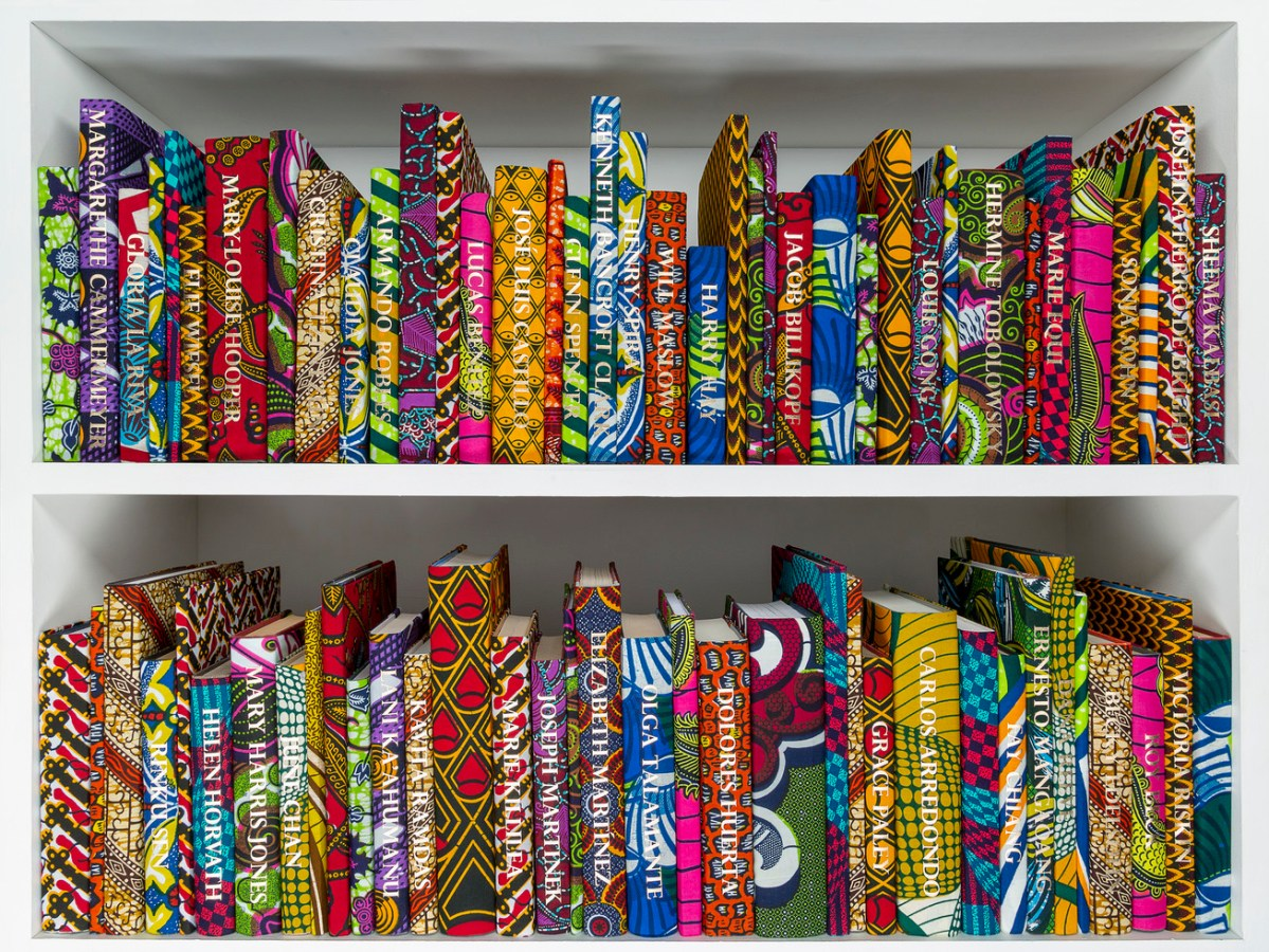 Yinka Shonibare Wrapped More than 200 Books in 'African' Textiles, His 'American Library' is Designed to Start a Conversation About Immigration