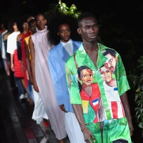 Pyer Moss Staged a Powerful, Art-Inspired Runway Show at Historic Black Heritage Site