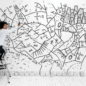 Known for Her Free-Form Line Drawings, Shantell Martin is Collaborating With the New York City Ballet